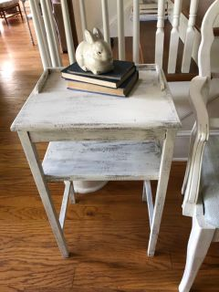 Shabby chic end table. Cross posted.