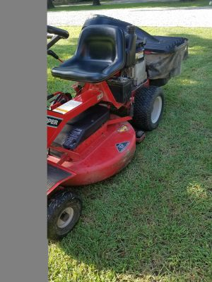 For sale Riding Snapper 33 inch hi vac mower with grass catcher. Bobby King 580-251-1973