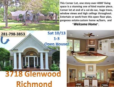HUGE FM359 COUNTRY ESTATE HOME 4 SALE! OPEN HOUSE SAT 10/13, 1-3, Open Floor Plan, Wood Floors, ...