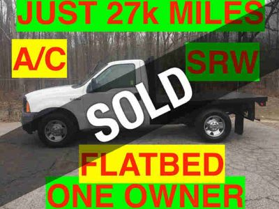 2007 Ford FLATBED JUST 27k MILES SRW STEEL DECK