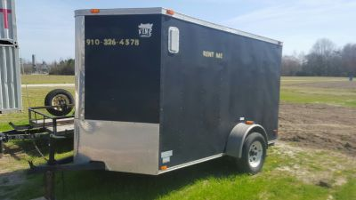 6 X 10 ENCLOSED TRAILER. 2 INCH BALL Available at 3100 Freedom Way in Hubert.