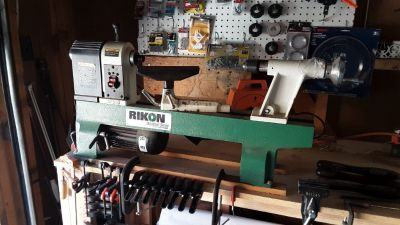 RIKON Small Lathe with many accessories to make wood, marble & metal ball point pens