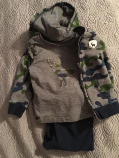 Toddler boys 3 piece outfit size 24 months
