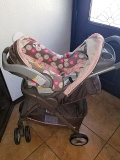 Graco fast action click connect car seat stroller combo with base