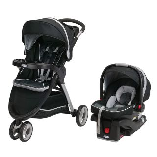 NEW-Graco FastAction Fold Sport Click Connect Travel System