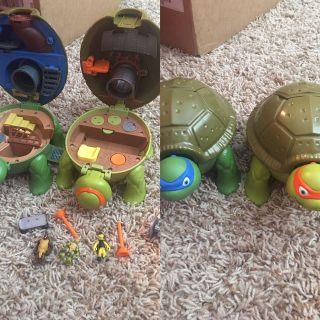 Ninja turtle play containers set of 2