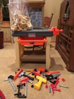 Step 2 kids tool bench, durafoam blocks, tools