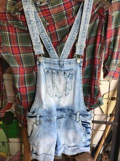 Overalls jean shorts