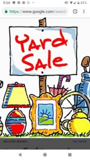 Yard sale Sept. 29 70 to 2 pm 110 Windham Circle Mansker Farms Subdivision