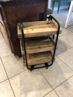 Wooden and metal cart