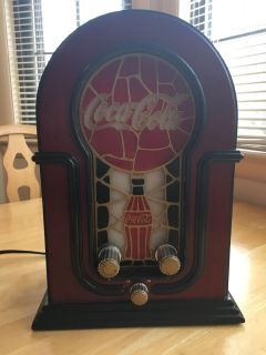 Coca-cola Stained Glass Radio - Lights Up