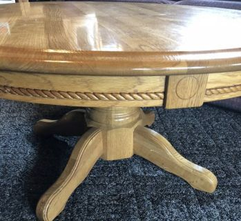 Oak Round coffee table