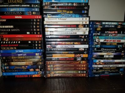 Over 700 DVDs & BluRays