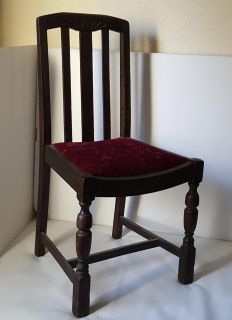 Chair fit for a king. Red Velvet seat.
