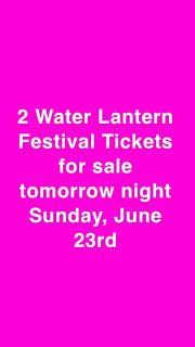 2 Tickets for nashville water lantern festival