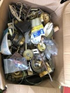 Box full of lamp hardware