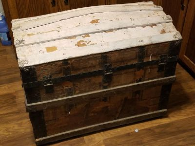 Antique Carriage Trunk