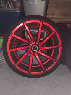 Custom Candy Red Rims 22 s Bolt Pattern