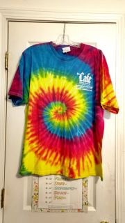 Nice condition, Hanes heavyweight, cotton, tie dye t-shirt. Size XL. Asking $2.00. Some cracking