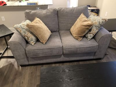 Love seat chair and ottoman