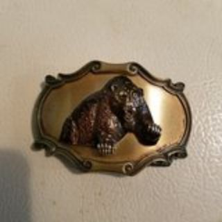 3D Bear belt buckle