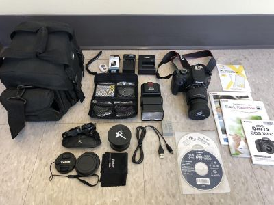 Canon EOS Rebel T5 with FULL Accessory Bundle