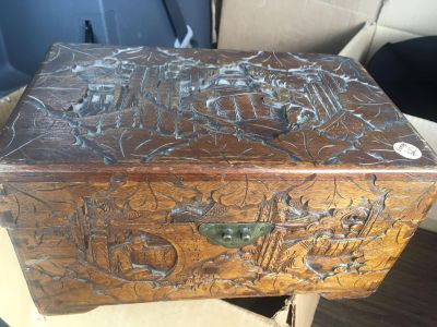 Gorgeous hand carved wood box