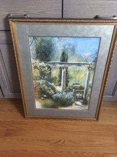 Picture with hold frame & glass 24 x 31