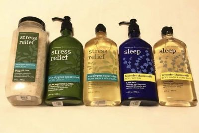 Bath and body works stress relief and sleep