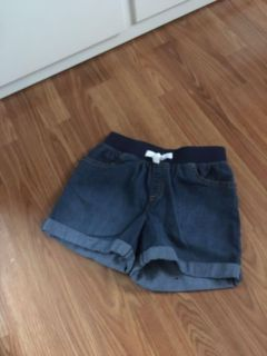 7 Jean shorts with fabric elastic comfort band