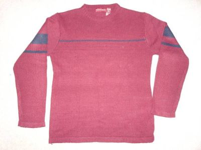 Burgundy knit sweater, small-medium