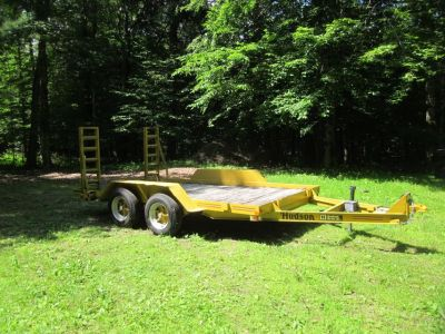 Axle trailer with electric brakes