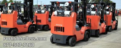 Toyota Forklift Sit Down Riders For Sale Gas and Electric