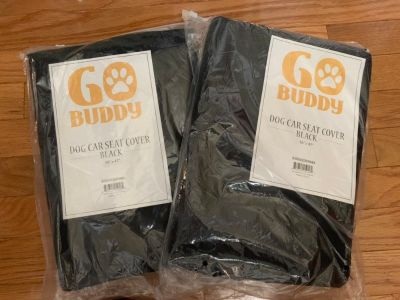 NEW BLACK DOG CAR SEAT COVERS