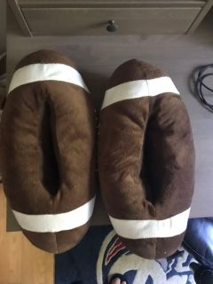 Football style slippers