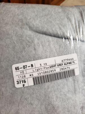 Brand new light grey fleece material 3 yards