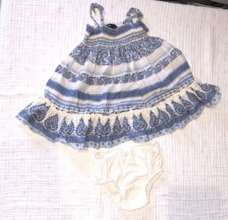 Baby Gap 6-12 month Dress with diaper cover