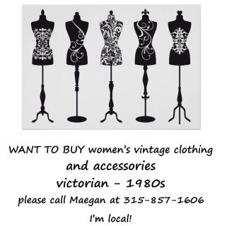 WANT TO BUY women's vintage clothing