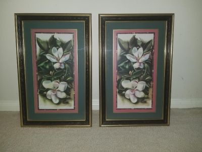 Set of two floral picture frames