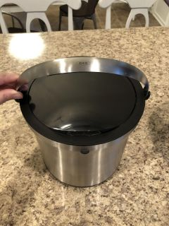 NEW OXO stainless steel ice bucket with tongs