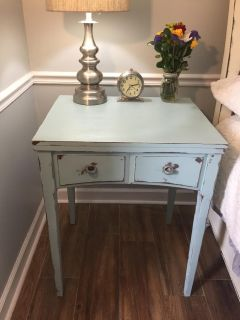serenity blue night stand / end table