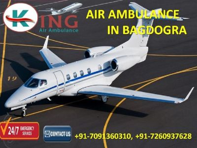 Get Prime and Supreme Relocation Air Ambulance in Bagdogra by King