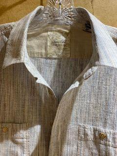 Tasso Elba ISLAND Men's Short Sleeve Casual Shirt With 2 Pockets Size Large