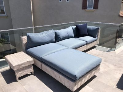 Sectional with side table