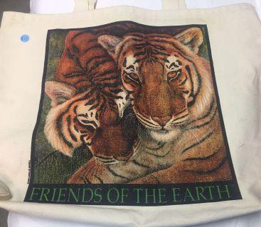 Tiger canvas tote