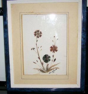 BEAUTIFUL PHEASANT FEATHER ART WORK - 1974 - TIM HOLLAND SIGNED