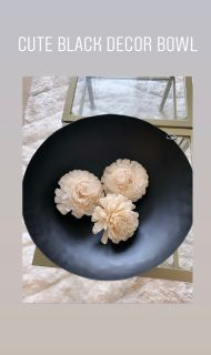 Black Decor Bowl