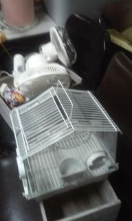 Small white teansport bird or hamater cage!