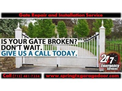 Local Automatic Gate Installation And Repairs ($25.95) | Spring Houston, 77379 TX