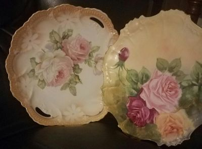 Two decorative vintage plates. Only $12 for both